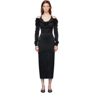 Materiel Tbilisi Black Cowl Neck Dress