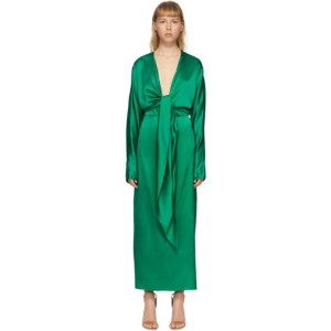 Materiel Tbilisi Green Silk Wrap-Around Gown