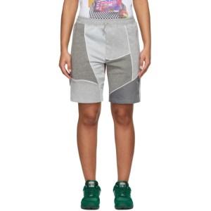 Ahluwalia Grey Patchwork Shorts