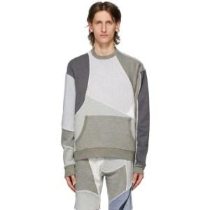Ahluwalia Grey Patchwork Sweatshirt