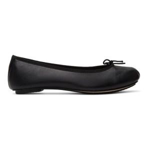 Repetto Black Leather Nizieri Metis Ballerina Flats