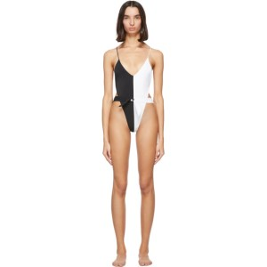 Gil Rodriguez Black and White Caracas One-Piece Swimsuit
