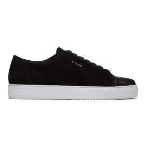 Axel Arigato Black Suede Cap-Toe Sneakers