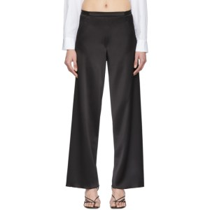 Christopher Esber Black Bias Satin Trousers