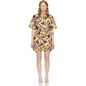 Kirin Multicolor Jacquard Typo Dress