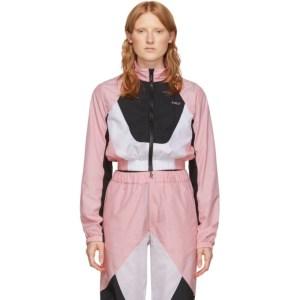 Kirin Pink and White Combo Track Jacket