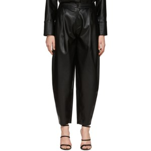 Aeron Black Faux-Leather Fran Trousers