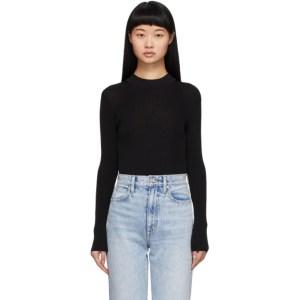 Aeron Black Rib Knit Willow Bodysuit