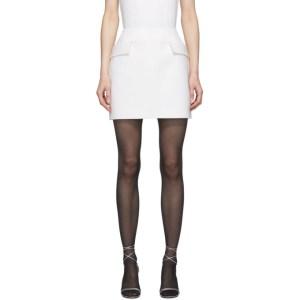 Mugler White Pocket Miniskirt