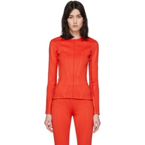 Mugler Red Scuba Sweater