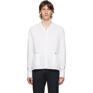 Cornerstone White Zip-Up Shirt