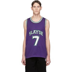 Neil Barrett Purple Slayde Tank Top