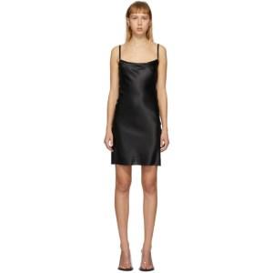 Ann Demeulemeester Black Silk Bleary Slip Dress