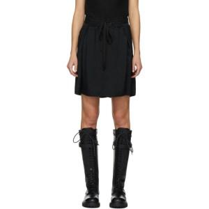 Ann Demeulemeester Black Cascia Short Skirt