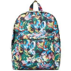 Kenzo Black Vans Edition Floral Backpack