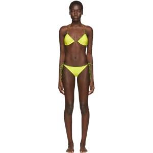Oseree SSENSE Exclusive Green String Bikini