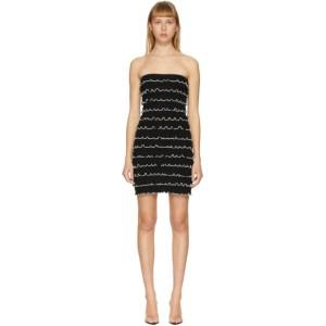 Victor Glemaud Black Knit Layer Dress