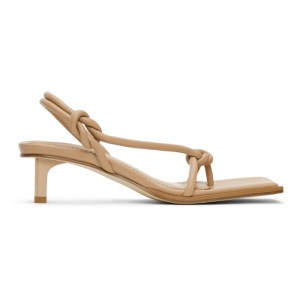 Dion Lee Beige Knot Low Heeled Sandals