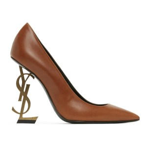 Saint Laurent Tan Opyum 110 Pumps