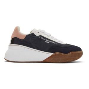 Stella McCartney Navy Loop Lace-Up Sneakers