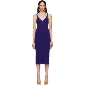 Haider Ackermann Blue Midi Camisole Dress