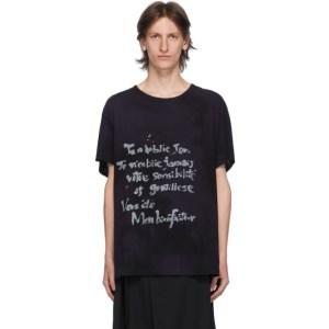 Yohji Yamamoto Navy Tie-Dye T-Shirt