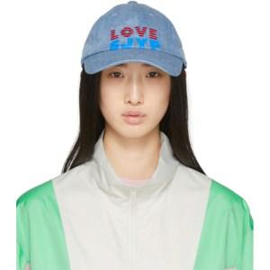 SJYP Blue Denim Love Logo Cap