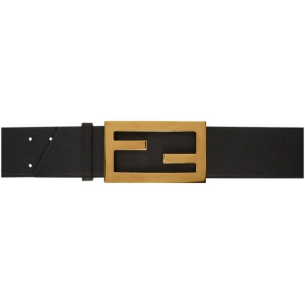 Fendi Black Large Forever Fendi Belt