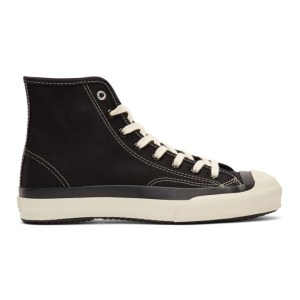 Ys Black and White High Cut Lace-Up Sneakers