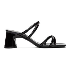 Dorateymur Black Patent Arena Strappy Sandals