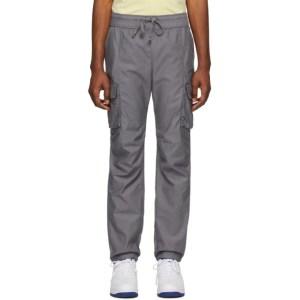 John Elliott Grey Sateen Cargo Pants