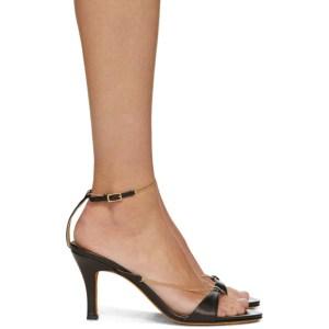 Maryam Nassir Zadeh Black Chain Aurora Sandals