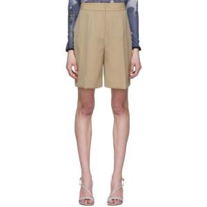 Victoria Victoria Beckham Beige Tailored Shorts
