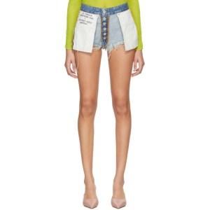 Unravel Indigo Denim Reversed Shorts