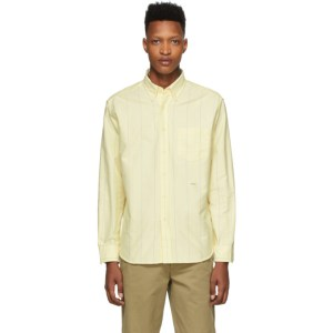 Noah Yellow Wide Stripe Oxford Shirt