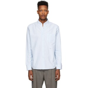 Noah Blue Wide Stripe Oxford Shirt