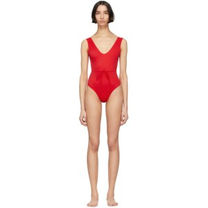 Solid and Striped Red The Michelle One-Piece Swimsuit