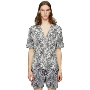Missoni White and Black Printed Shirt