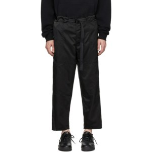 Enfants Riches Deprimes Black Nylon Railroad Lounge Pants