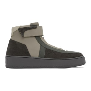 A-COLD-WALL* Grey Leather High-Top Sneakers