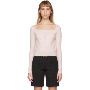 Shushu/Tong Pink Wool Raw Edge Cardigan