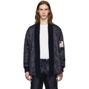 Greg Lauren Navy Paul and Shark Edition Quilted Kimono Jacket