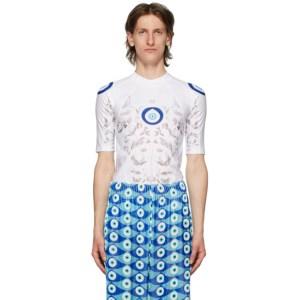 GmbH White Nazar Print Shirt