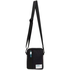 Diesel Black and White Discover Me Messenger Bag