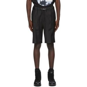 Diesel Black Wool Shorts