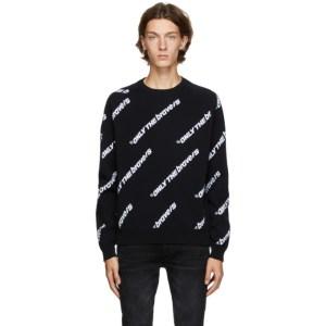 Diesel Reversible Black K-Davis Only the Brave Sweatshirt