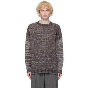 Ottolinger Brown and White Forever Knit Sweater