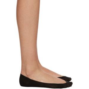 Wolford Black Cotton 40 Footsies Socks