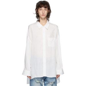 R13 White Drop Neck Shirt
