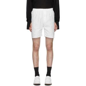 Sulvam White Embroidered Shorts